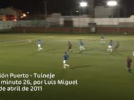 Luis Miguel, especialista en goles de larga distancia