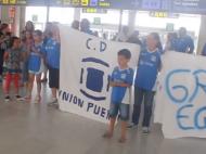 Vídeo llegada al aeropuerto de Fuerteventura del Unión Puerto